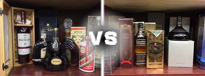 高檔酒VS低檔酒