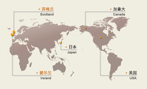 世界威士忌地圖